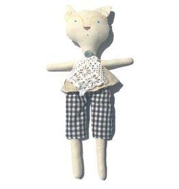 Foxy with Crochet Scarf