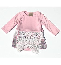 Claire One Piece Pink l/s 3-6mos
