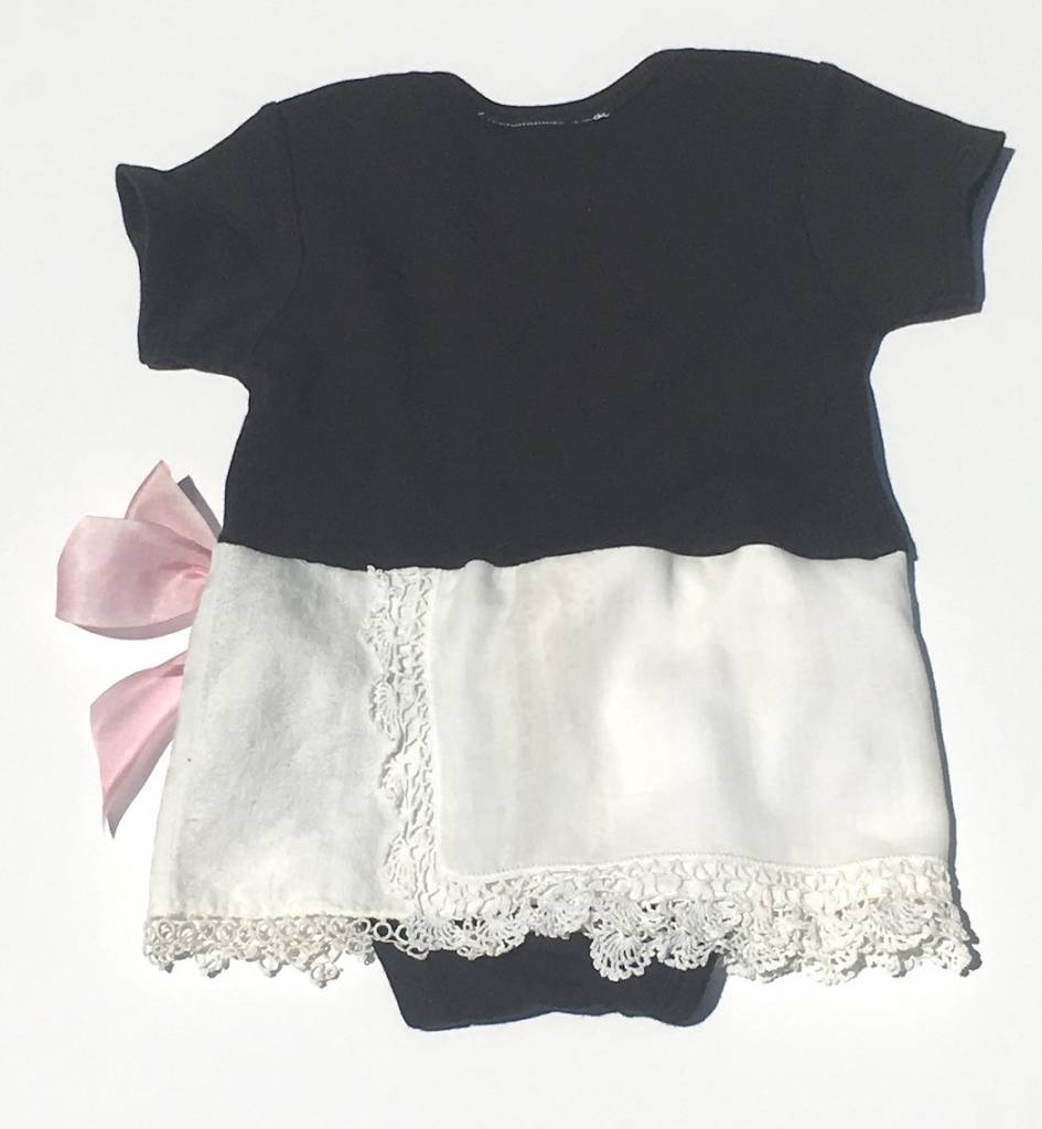 Phoebe One Piece Black s/s 6-12mos