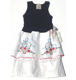 Lizzie Dress Black Tank 4-5yrs