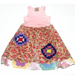 Granny Dress Pink Tank 4-5yrs