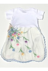 Violet One Piece White s/s 6-12mos