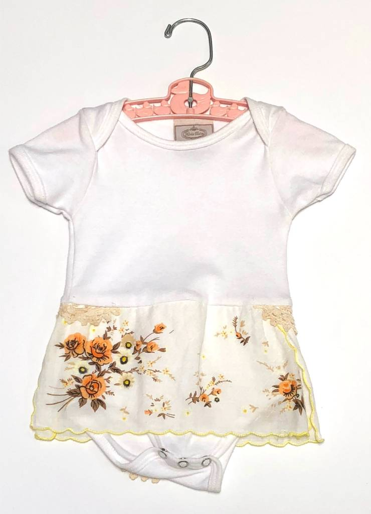 Clementine One Piece White s/s 3-6mos