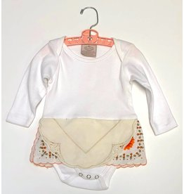 Claire One Piece White l/s 6-12mos