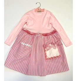 Granny Dress Pink l/s 4-5yrs