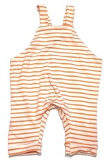 White/Orange Stripe Jersey Romper