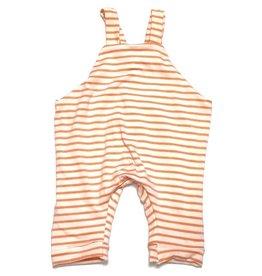 White/Orange Stripe Jersey Romper