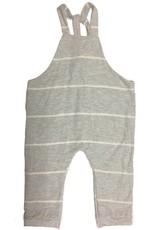 Gray/White Stripe Jersey Romper