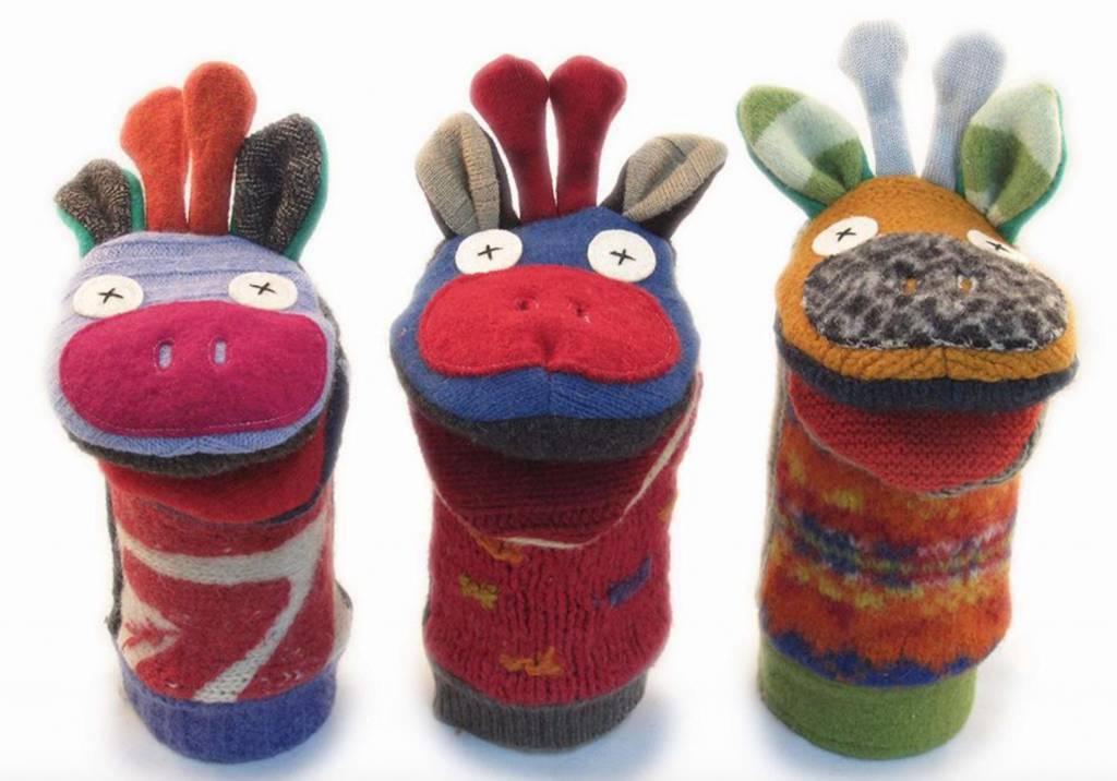 Wool Animal Sweater Puppet