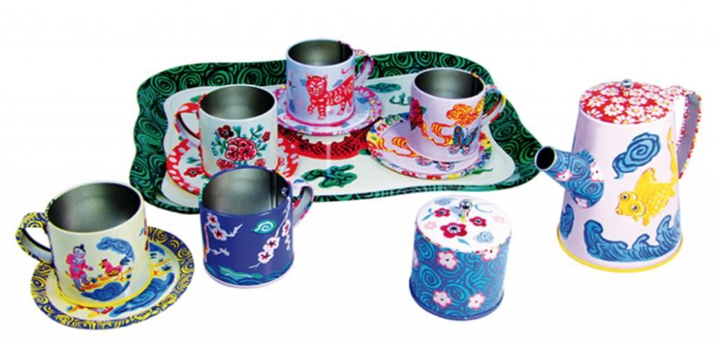 Dragon Tin Tea Set