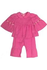 Organic Linen Girl's Pants Set