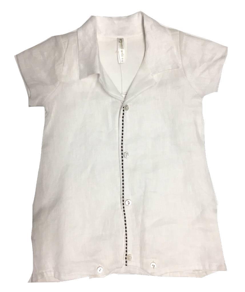 White Linen Boy Romper