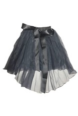 Charcoal Tulle Midi Skirt