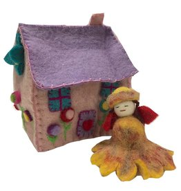 Felted Dream House with Fairy 3pc