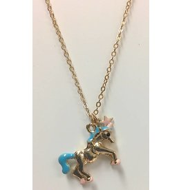 Unicorn Necklace Gold Plate