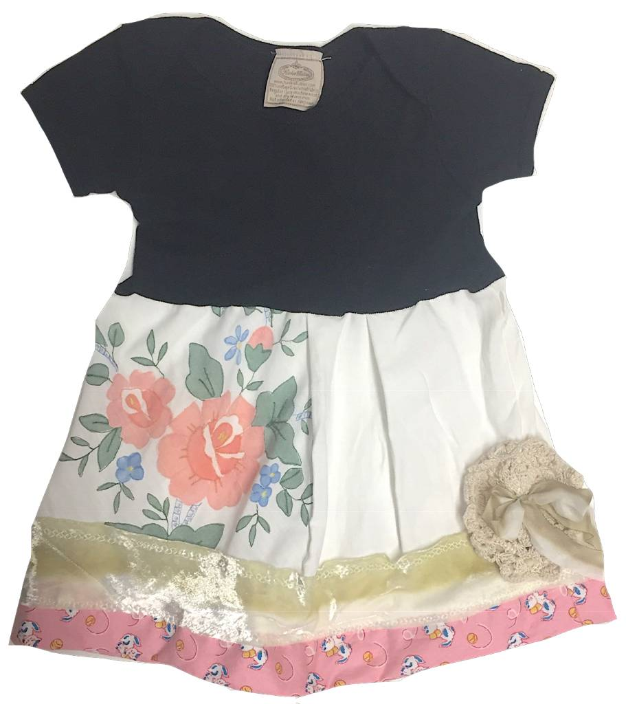 Custom Dress Black s/s 12-18mos