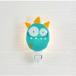 Veille Sur Toi *Veilleuse en verre Monstre Bleu/Orange par Veille sur Toi, Veille sur Toi Blue and Orange Glass Nightlight