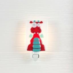 Veille Sur Toi *Veilleuse en Verre Dragon Rouge Frank par Veille sur Toi, Veille sur Toi Glass Nightlight Red Dragon