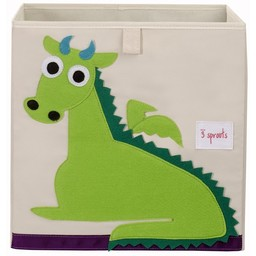3 sprouts 3 Sprouts - Boîte de Rangement/Storage Box, Dragon Vert/Green Dragon