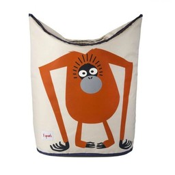3 sprouts *Panier à Linge, Orang-Outan, Orange/ Laundry Hamper, Orang-Utan, Orange