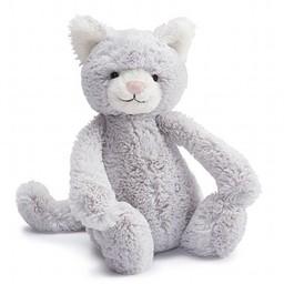 Jellycat Jellycat - Chaton Bashful/Bashful Kitty, Gris 12''/Grey 12''