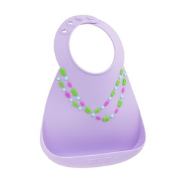 Make my day *Bavoir en Silicone de Make My Day/Make My Day Silicone Bib, Bijoux Lilas/Lilac Jewels