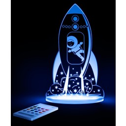 Aloka Sleepy Lights Veilleuse et Lampe de Chevet Multicolore de Aloka Sleepi Lights/Aloka Sleepi Lights Multicolored NightLight and Side Lamp, Fusée/Rocket Ship