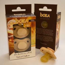 Boka Boka - Suces en Bois et Latex/Wood and Latex Pacifiers, 6-18 mois/months