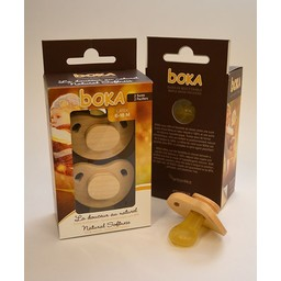 Boka Suces en Bois et Latex Boka/Boka Wood and Latex Pacifiers, 6-18 mois/months