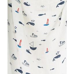 Little Unicorn Couverture enLittle Unicorn -  Mousseline de Coton à l'Unité / Single Cotton Muslin Blanket, Nautical Harbor