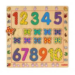 Djeco Djeco - Puzzle en Bois/Wooden Puzzle, 1-10