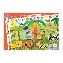 Djeco Casse-tête d'Observation la Jungle, 35 pièces/ Observation Puzzle the Jungle, 35 pieces