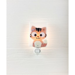 Veille Sur Toi Veille sur Toi - Veilleuse en Verre Charlotte le Chat Rose / Glass Nightlight Charlotte the Pink Cat