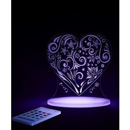Aloka Sleepy Lights Veilleuse et Lampe de Chevet Multicolore de Aloka Sleepi Lights/Aloka Sleepi Lights Multicolored NightLight and Side Lamp, Coeur/Love Heart
