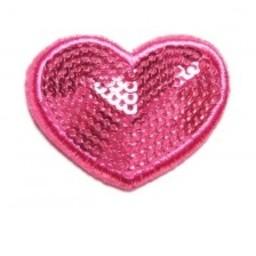 Baby Wisp *Baby Wisp Coeur Paillette/Baby Wisp Sequin Heart Mini Latch, Fushia