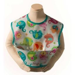 Goo-Goo Baby Bavoir à poche Goo Goo Baby/Goo Goo Baby Perfect pocket Bib,  Éléphants et Fleurs/Elephants Romp