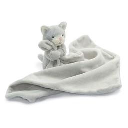 Jellycat *Toutou-Doudou Chat Bashful de Jellycat/Jellycat Bashful Kitty Soother, Gris/Grey