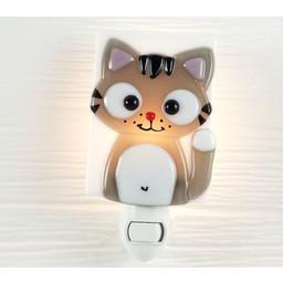 Veille Sur Toi Veilleuse en Verre Ferguson le Chat par Veille sur Toi, Veille sur Toi Glass Nightlight Ferguson the Cat