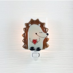 Veille Sur Toi Veilleuse en Verre Hérisson Edmond par Veille sur Toi, Veille sur Toi Glass Nightlight Hedgehog