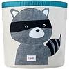 3 sprouts 3 Sprouts - Panier de Rangement/Storage Bin, Raton Laveur Gris/Grey Raccoon