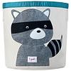 3 sprouts Panier de Rangement, Raton Laveur, Gris/Storage Bin, Raccoon, Gray