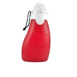 The Sili Company Pochette à Collation Réutilisable de Silicone SIli Squeeze/Sili Squeeze Silicone Squeeze Pouch, Rouge/Red, 4 oz/118ml