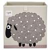 3 sprouts 3 Sprouts - Boîte de Rangement/Storage Box, Mouton Gris/Grey Sheep