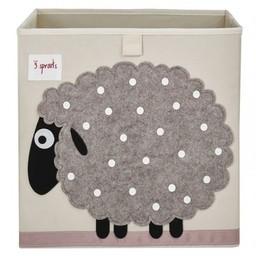 3 sprouts Boîte de Rangement de 3 Sprouts/3 Sprouts Storage Box, Mouton/Sheep
