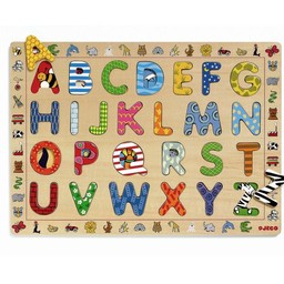 Djeco Djeco - Puzzle en Bois/Wooden Puzzle, ABC