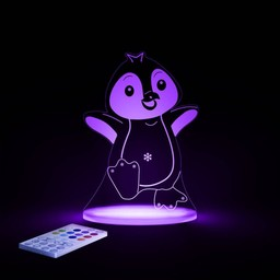 Aloka Sleepy Lights Veilleuse et Lampe de Chevet Multicolore de Aloka Sleepi Lights/Aloka Sleepi Lights Multicolored NightLight and Side Lamp, Pingouin/Penguin