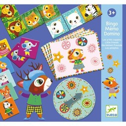 Djeco Djeco - Bingo Mémo Domino, Les P'tits Copains/Little Friends