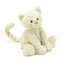 Jellycat Jellycat - Chaton Fuddlewuddle/Fuddlewuddle Kitty, Blanc/White, Moyen/Medium, 9 pouces/inches