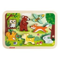 Janod Casse-Tête Animaux de la Forêt (Version Épaisse) de Janod/Janod Forest Chunky Puzzle