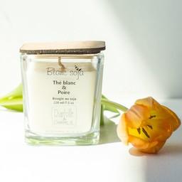 BlancSoja Bougie au Soja Exclusive Thé Blanc et Poire de Blanc Soja, 220 ml/Exclusive Soja Candle White Tea and Pear from Blanc Soja, 220 ml.